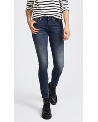 R13 Kate Skinny Jeans - Blue