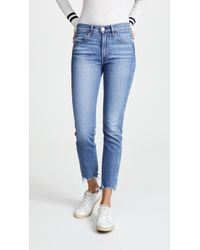 3x1 - W3 Straight Authentic Crop Jeans - Lyst