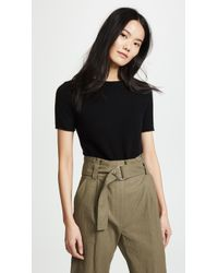 Theory Cashmere Tolleree Short Sleeve Jumper - Black