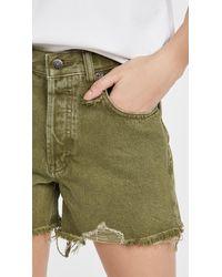 Free People Makai Cutoff Shorts - Green