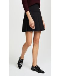Susana Monaco High Waisted Flare Skirt - Black