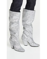 Simon Miller High Slant Boots - Metallic