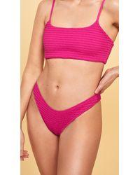 Reformation Shore Bikini Bottoms - Pink