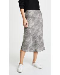 Re:named Animal Print Midi Skirt - Black