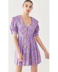 Natasha Zinko Collar Dress - Purple