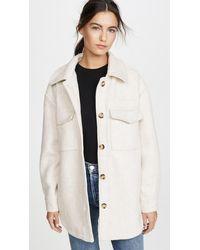 Line & Dot Drew Wool Blend Jacket - Natural