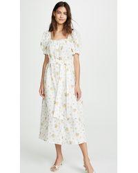 Sleeper Brigitte Linen Maxi Dress - Multicolor