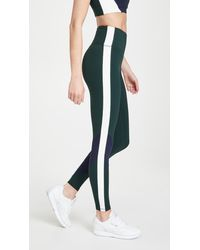 Tory Sport Super High Rise Weightless Colorblock Leggings - Blue
