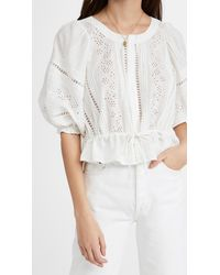 Free People Daisy Chains Eyelet Top - White