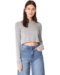 Le Kasha - Cropped Crew Neck Top - Lyst