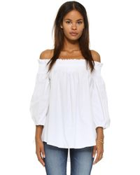 Caroline Constas Lou Off The Shoulder Blouse - White