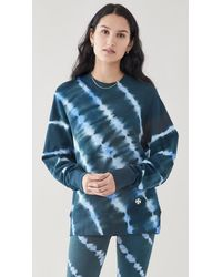 Tory Sport Tie Dye Pullover - Blue