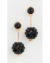 Marni Resin And Metal Earrings - Black