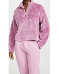 Year Of Ours Sherpa Vail Crop - Pink