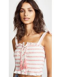 Free People - Electric Love Smocked Top - Lyst