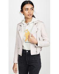 IRO Ashville Leather Jacket - Gray