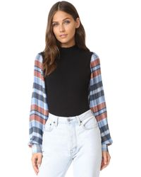 Opening Ceremony | Plaid Long Sleeve Body Suit | Lyst