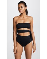 Proenza Schouler One Piece Bandeau With Side Tie - Black
