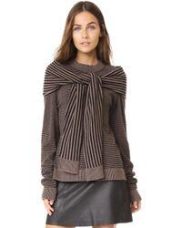 Isa Arfen - Sweater With Tie - Lyst