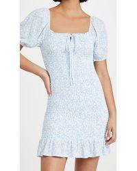 Lost + Wander Wander My Way Mini Dress - Blue