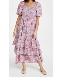 English Factory Floral Print Maxi Dress - Pink