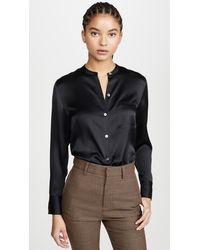 Vince Slim Fitted Blouse - Black