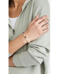Tory Burch Serif-t Stackable Bracelet - Metallic