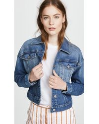 7 For All Mankind - Bubble Denim Jacket - Lyst
