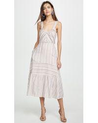 La Vie Rebecca Taylor Sleeveless Metallic Stripe Dress - Multicolour