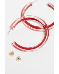 Alison Lou Medium Jelly Hoops - Red