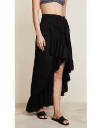 Tiare Hawaii Tulip Wrap Skirt - Black
