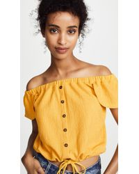Madewell - Texture & Thread Off-the-shoulder Top - Lyst