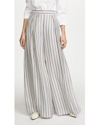 Zimmermann Painted Heart Palazzo Trousers - Grey