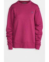 Acne Studios Fairview Face Sweatshirt - Pink
