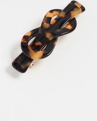 Alexandre De Paris Twisted Knot Barrette - Brown