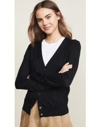 Theory V Neck Cardigan - Black