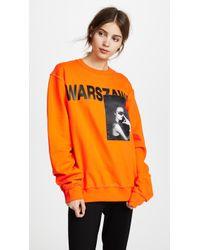 MISBHV Warszawa Crew Neck Sweatshirt - Orange