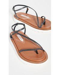 Zimmermann Skinny Strap Sandals - Black