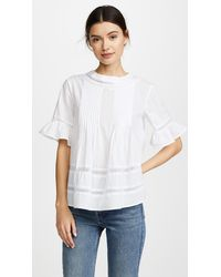 English Factory Lace Boho Blouse - White
