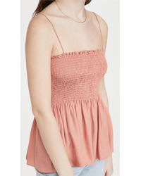 Theory Bustier Top - Pink