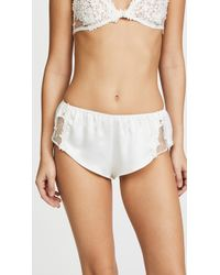 Flora Nikrooz - Charmeuse Boy Shorts With Lace - Lyst