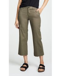ATM - Enzyme Wash Cropped Boyfriend Trousers - Lyst