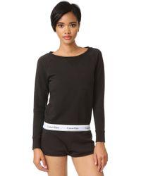 CALVIN KLEIN 205W39NYC - Modern Cotton Long Sleeve Sweatshirt - Lyst