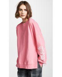 Les Girls, Les Boys - Loopback Popper Sweatshirt - Lyst