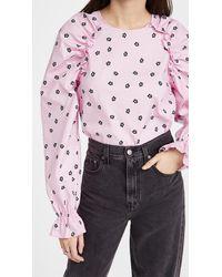 Glamorous Floral Poplin Top - Pink