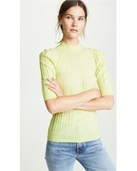Adam Lippes - Ribbed Puff Sleeve Sweater - Lyst