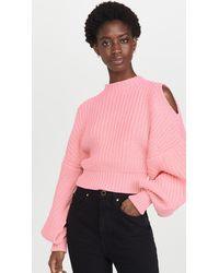 A.W.A.K.E. MODE Open Sleeve Sweater - Pink