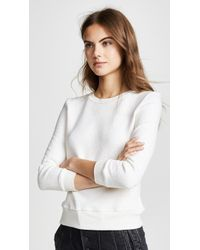 Enza Costa - Cropped Shrunken Sweatshirt - Lyst