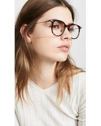 Linda Farrow - Linear Optical Oversized Wayfarer Glasses - Lyst