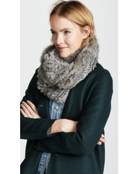 Jocelyn - Knitted Fur Infinity Scarf - Lyst